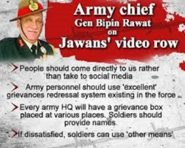Army Chief Should Stop Threatening Jawans