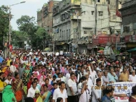 Bhangar People's Movement : BHANGAR MOVEMENT REACHING NEWER HEIGHTS! SUCCESSFUL MASSIVE MARCH TO RAJ BHAVAN ON 8 MAY!
