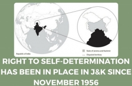 ANY DIALOGUE DENYING RIGHT OF SELF DETERMINATION TO PEOPLES OF J&K IS MEANINGLESS