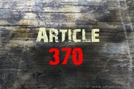 Oppose Repeal of Article 370 and Bifurcation of J&K