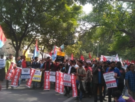 HUNKAR RALLY AT DELHI BY AIF-RTE AGAINST ATTACK ON EDUCATION
