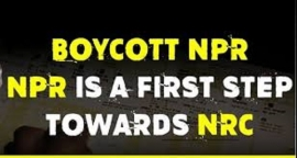 BOYCOTT NPR AND CENSUS LAUNCHED FROM 1ST APRIL, INTENSIFY ANTI-CAA/NPR/NRC MOVEMENT