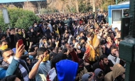 IRANIANS CHANT 'DEATH TO DICTATOR' IN BIGGEST UNREST SINCE CRUSHING OF PROTESTS IN 2009