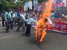 Odisha: Protest against Hike in Electricity Charges